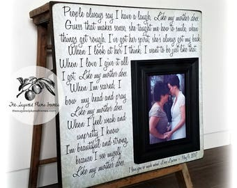 Unique Mother Of The Bride Gift, Like My Mother Does, Mother of the Bride Picture Frame, 16x16 The Sugared Plums Frames
