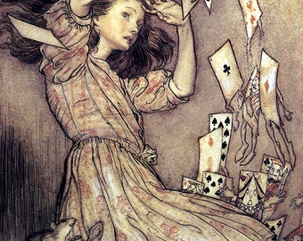 Pack Rose in The Air,  Arthur Rackham, Vinatge Art Print