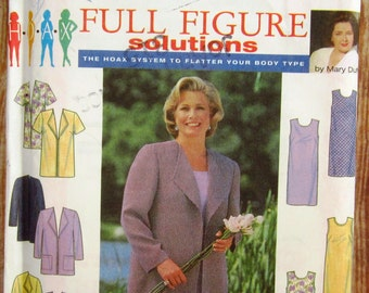 Womens Coat or Jacket and Semi-fitted Sleeveless Dress in Two Lengths Sizes 26W 28W 30W 32W Vintage 1990s Simplicity Pattern 8003 UNCUT