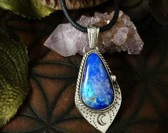 Luna- Magical Moon Australian Opal Necklace