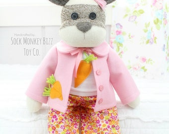 Rainy Days Bunny Rabbit Baby Doll, Child's Stuffed Plush Toy, Easter Basket Gift, Limited