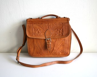 Tooled Willis Style Satchel