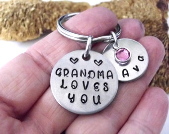 Super Sale Now Grandkids Present, Grandma Loves You, Gift to Granddaughter, Gift to Grandson, Grandkids Gift, Grandma to Grandkids