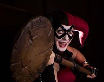 Black Leather Harley Quinn Adult Mask