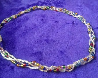 Gorgeous Multicolor Braided Bead Necklace