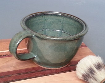 Large Wet Shaving Set Lather Bowl Mug in Deepwood Moss