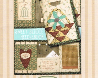 Needlebook Pattern/Project 'Sweet Birdie'  - Original Design & Pattern by The Birdhouse