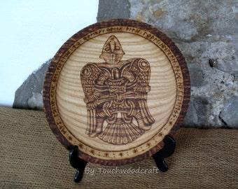 Viking plate, Plaque, Wayland the Smith, Ash, Viking Art, Viking Decor, Viking Gift, Norse, Pagan, Heathen, Altar, Norse home, Handfasting