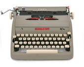 RESERVED / 1956 Royal Quiet De Luxe Typewriter with Subscript Numbers and Document Notation Symbols, Professionally Serviced