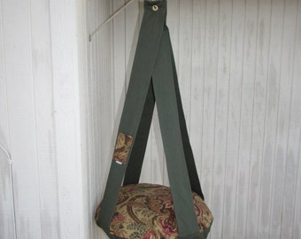 Cat Bed, Royal Floral & Olive Green, Single Hanging Cat Bed, Kitty Cloud Cat Bed, Pet Furniture, Gift, cat Tree