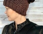 Messy Bun Ponytail Hat Fits Teens To Women, winter hat, photo prop, womens hat, teen hat, messy bun hat, ponytail hat