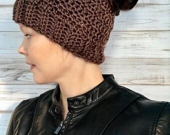 Messy Bun Custom Ponytail Hat Fits Teens To Women, winter hat, photo prop, womens hat, teen hat, messy bun hat, ponytail hat