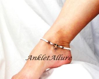 Starfish Anklet Copper Ankle Bracelet Beach Jewelry Body Jewerly Cruise Jewelry Fetish Foot Jewelry