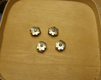 Brass Connectors Floral  4 pcs