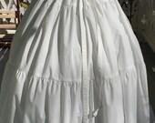 Ships Today - 3 Yard Cotton Ruffled  Petticoat Colonial, Pioneer, Prairie -Reenactment