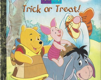 Vintage First Edition Pooh Trick or Treat! , A Little Golden Book, Children's Book, 1997