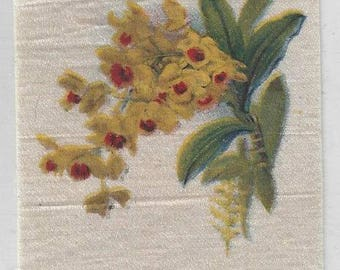 Vintage Orchids (18) Cigarette Tobacco Silk, early 1900s