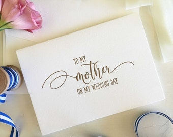 Mother Of The Bride Card - Mother of Groom Card -To My Mother On My Wedding Day Card -Mom From Daughter -Mum From Daughter -Wedding Gift Mom