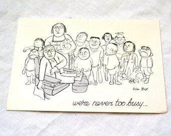 1950s NOS William Box Birthday Card with Envelope