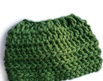 Crochet Hat Pattern - Super Bulky Oversized Messy Bun Hat ponytail hat messy bun hat - PDF