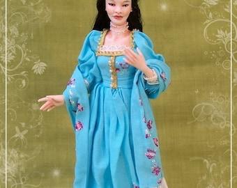 LI-HSIEN  ooak  Edwardian Chinese lady 1:12 dollhouses doll by Soraya Merino