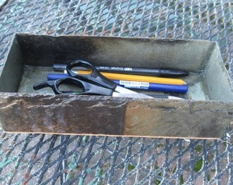 Pens, watches or jewelry tray made from weathered slate.  # MO-12