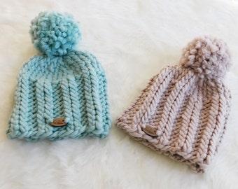 Hat Pattern, Chunky Ribbed Knitted Beanie Pattern, Classic Knit Hat PATTERN, Adult Beanie PDF Instant Downlaod, Fordham Beanie