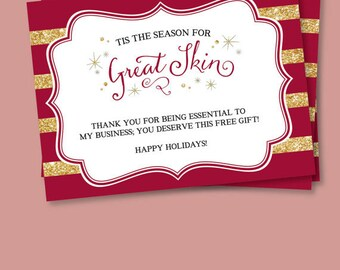 Great Skin Holiday Note Card for PC Perks with Gift  - Prints - FREE SHIPPING