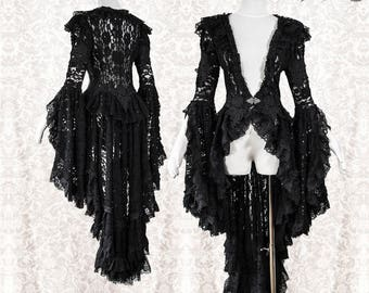 Waistcoat lace, Victorian, Steampunk, black, gothic, steampunk, Somnia Romantica, approx size S, see item details for measurements
