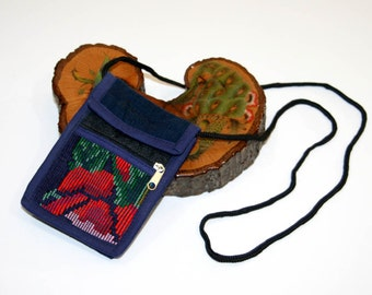 Embroidered Floral Mini Stash Bag Shoulder Purse Cute Cuuuuute