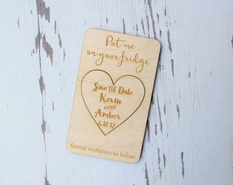 Save The Date Magnets Engraved Save The Date Cards Save The Date Hearts