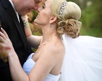 Bridal Hair Piece, Bridal, ELSIE, Rhinestone Headband, Bridal Hair, Bridal Headband, Bridal Headpiece, Rhinestone