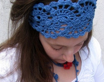 Crochet Lace Headbands - Crochet Head Wrap for Summer - Crochet Summer Hairband - Crochet Womens Bandana - Head Wrap Band