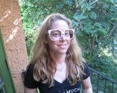 Vintage Emmanuelle Khanh Eyeglasses / White EK Sunglasses Oversized 1980s