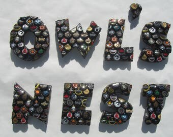 Bottle Cap Letters from A to Z for Custom Bar Signs