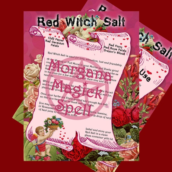 RED WITCH SALT - For Love,Attraction, Lust & Friendship