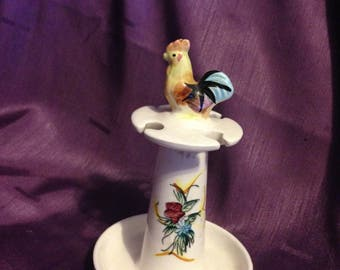 1950's Spoon Stand With Rooster Japan Chicken spoon stand Made in Japan - Kitchen Collectibles - At Everything Vintage shipping is on us!