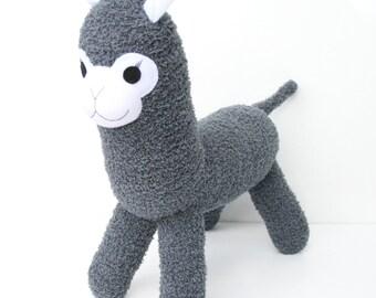 Amos the Sock Alpaca - grey - READY TO SHIP -  Llama