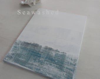 DEEP Seawashed Sea Abstract Original Painting 11 x 14 Nordic Coastal French Seaside Beach Minimal Bohemian Zen Art