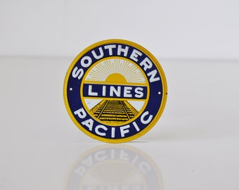Vintage Miniature Tin Railroad Sign Southern Pacific Lines