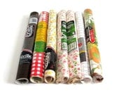 Contact Paper Shelf Liner Adhesive Plastic- Rubbermaid, Con Tact, Carlan Shelf Pride, Kwik Kover II, Pink Wood Grain, Red Gingham, Flowers