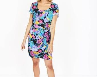 Vintage Tropical Summer Dress