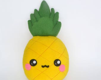Pineapple - kawaii fruit handmade pillow / cushion