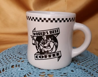 Tasmanian Devil TAZ World's Best Coffee Acme Homeworks Mug Cup 1993 Warner Bros *eb