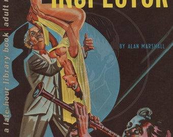 The Orgy Inspector - 10x16 Giclée Canvas Print of a Vintage Pulp Paperback Cover