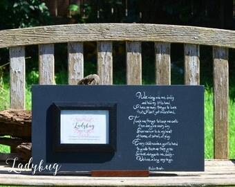 "Father's Day frame. ""Walk alongside me, daddy..."" Customize your frame by Ladybug Design by Eu. Size 24x12"
