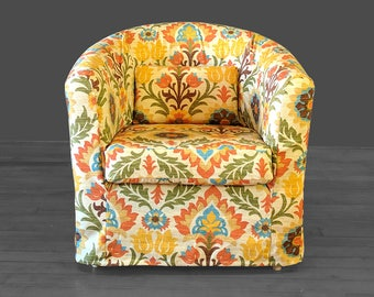 Vintage Style Flower Print Ikea Tullsta Chair Cover