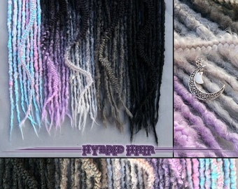 Ombre pastel goth synthetic dreads dreadlock set ombre braids locks hair extensions  full set pastel goth fairy kei spank