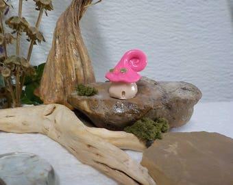 Miniature Mushroom House , Terrarium , Miniature Garden, Fairy Garden,Mushroom Fairy Garden,Polymer Clay Miniature,Mushroom Garden Supply