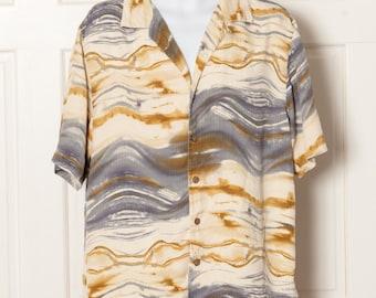 Vintage 80s Summer Mens Shirt - MURANO - L